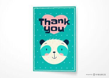 Obrigado urso design de cartão de felicitações