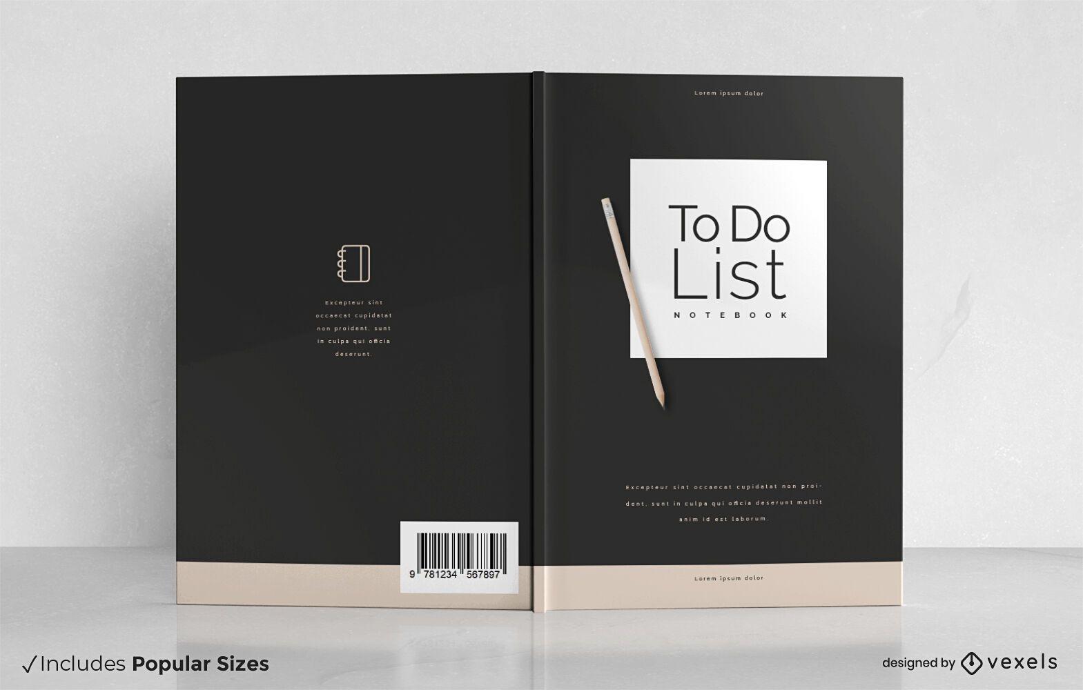 Lista de tareas para el diseño de la portada del cuaderno