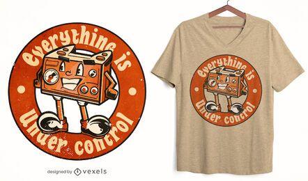 Design de camisetas de personagens de joystick para jogos