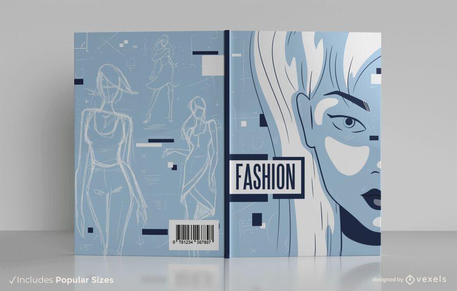 Diseño de portada de libro de diseñador de moda