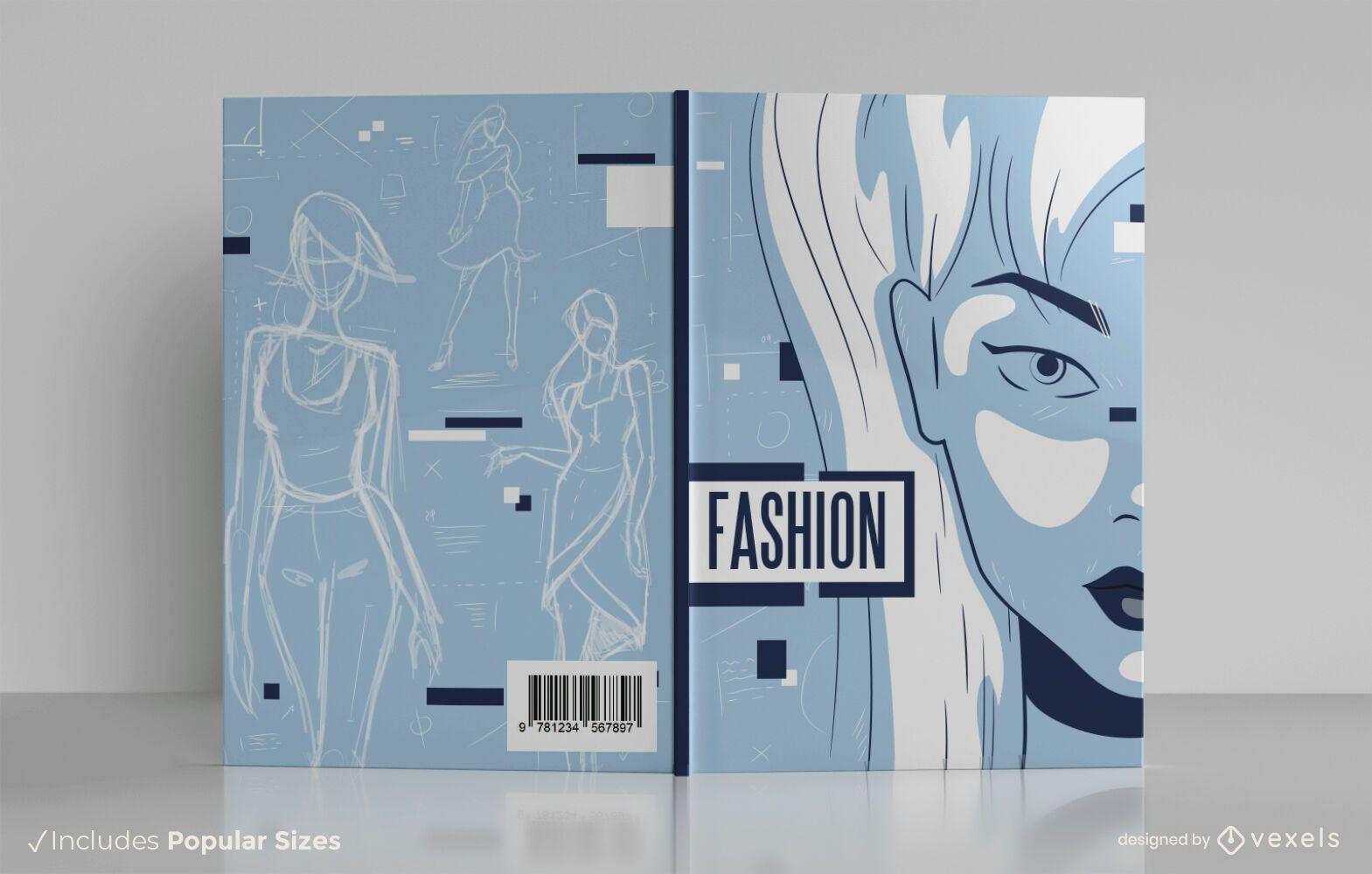 Design de capa de livro de designer de moda