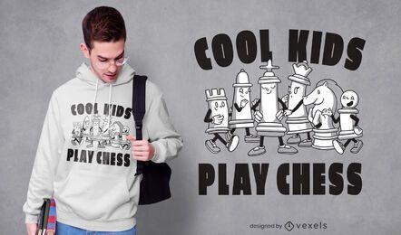 Design de camisetas para personagens de jogos de xadrez