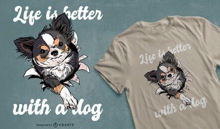 Design de t-shirt com citações do proprietário do cão