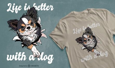 Dog owner quote t-shirt design