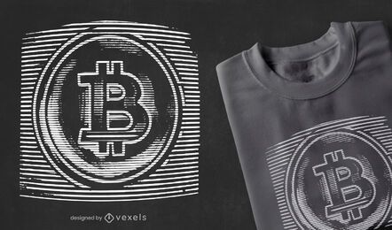 Bitcoin static t-shirt design