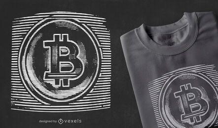 Bitcoin statisches T-Shirt Design