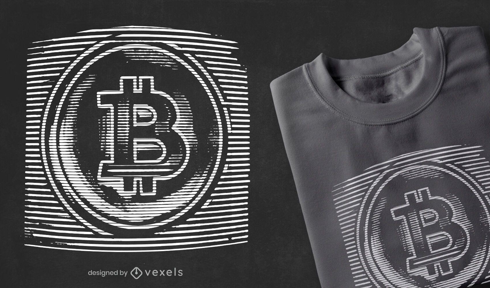 Diseño de camiseta estática de Bitcoin