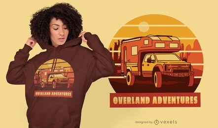 Diseño de camiseta con cita de viaje de aventura.
