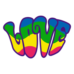 Love colorful hippie badge