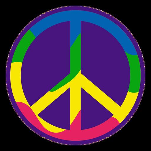 Color stroke colorful peace symbol