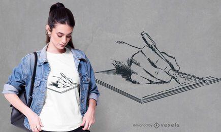 Hand-drawn writing t-shirt design