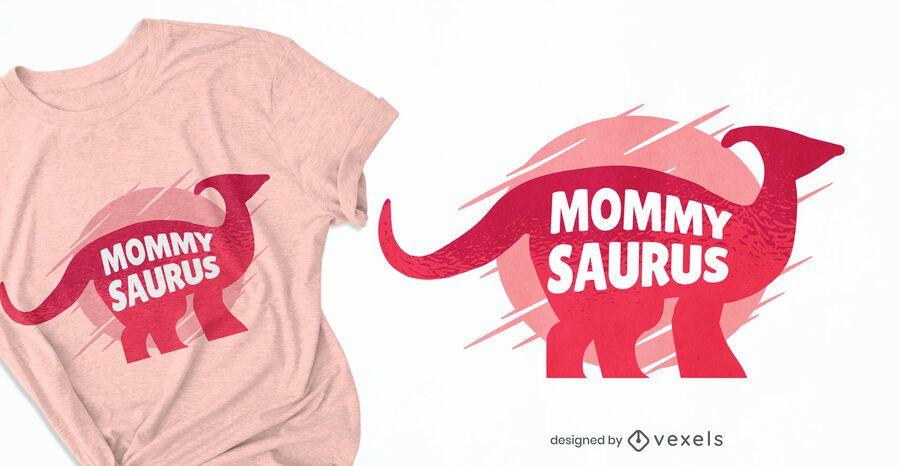 Design de camisetas Mommysaurus
