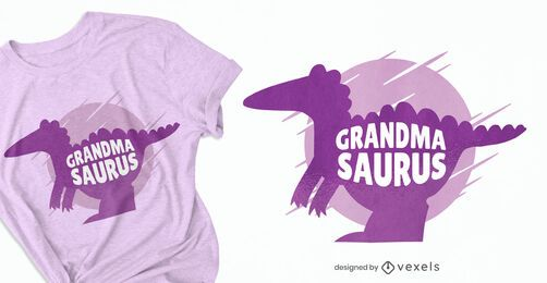 Diseño de camiseta Grandmasaurus