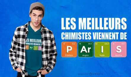 Paris chemists t-shirt design