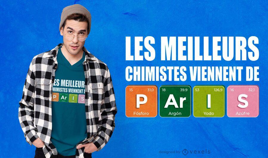 Paris chemists t-shirt design