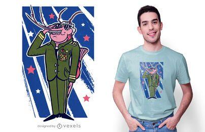 Diseño de camiseta de camarón general.