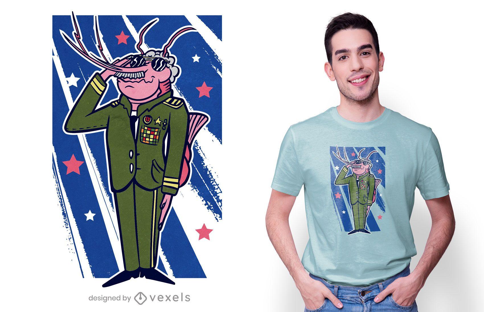 General shrimp t-shirt design