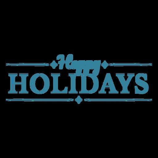 Happy holidays text badge
