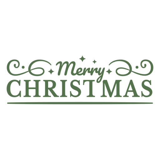 Merry christmas flat text badge