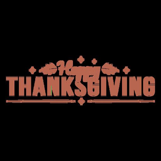 Happy thanksgiving text badge
