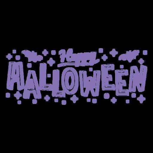 Happy halloween lettering badge