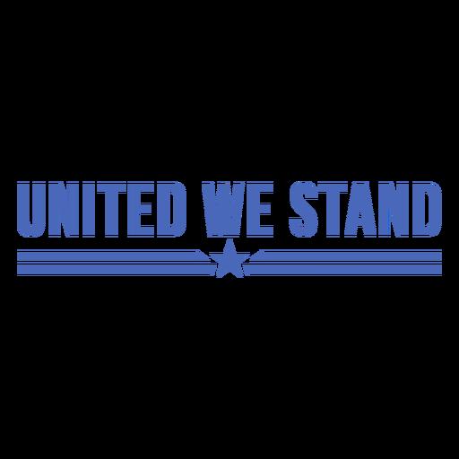 United we stand flat badge