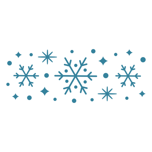 Simple cold snowflakes flat