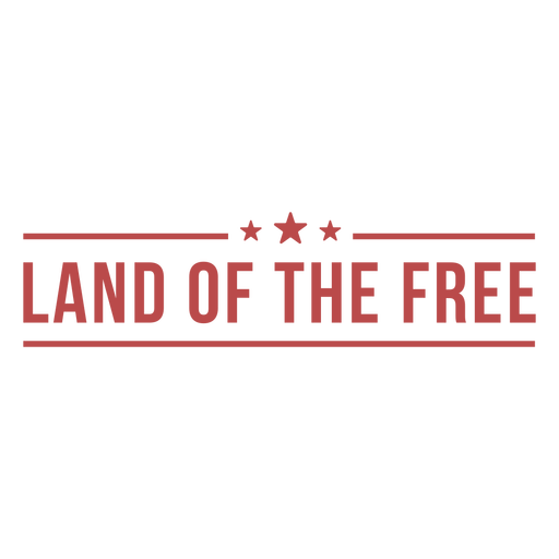 Land of the free badge