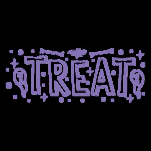 Treat halloween stroke badge