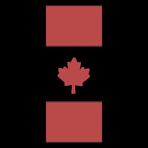 Vertical canada flag banner