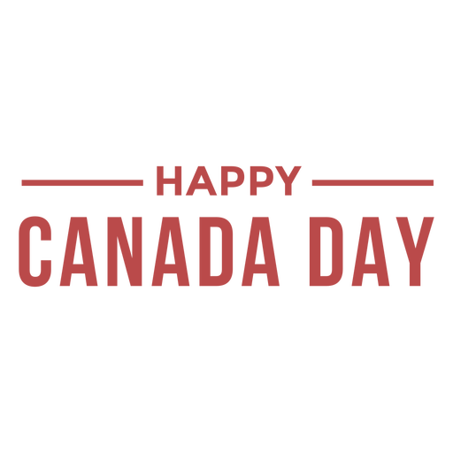 Happy Canada day badge