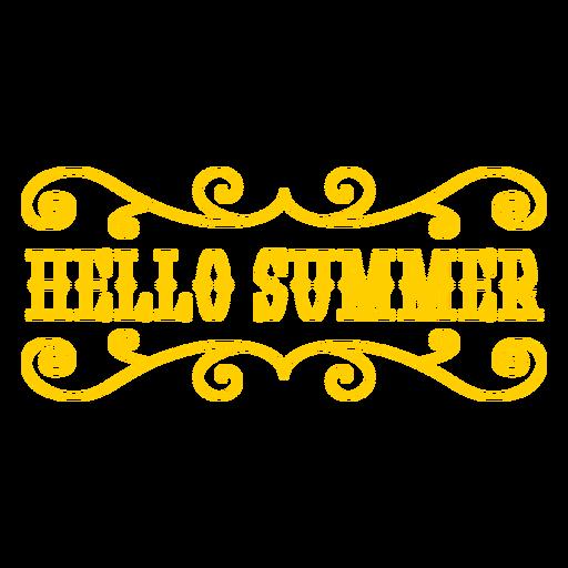 Hello summer text badge