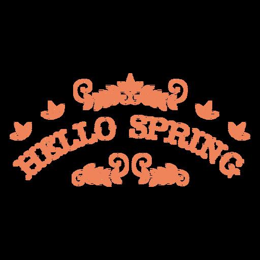 Hello spring text badge