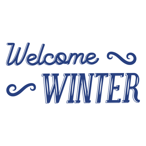 Welcome winter lettering text badge