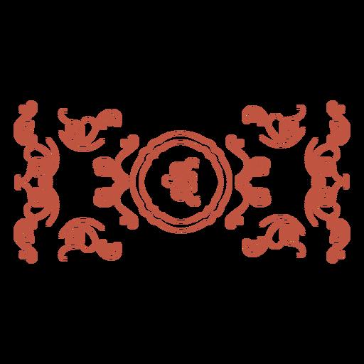 Simple ornament swirls banner