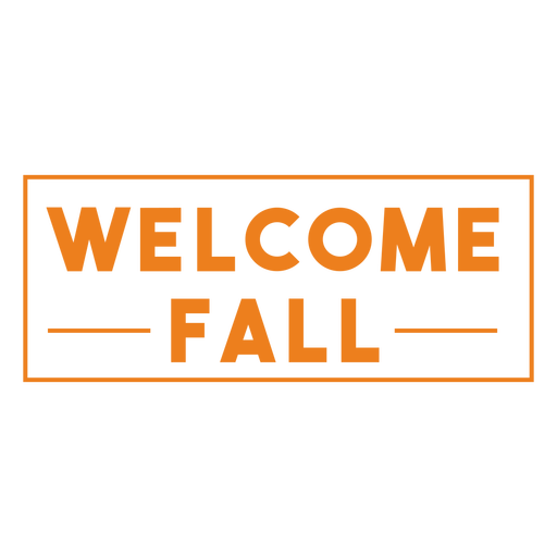 Welcome fall simple badge