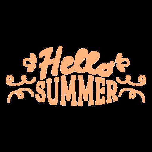 Hello summer flat badge