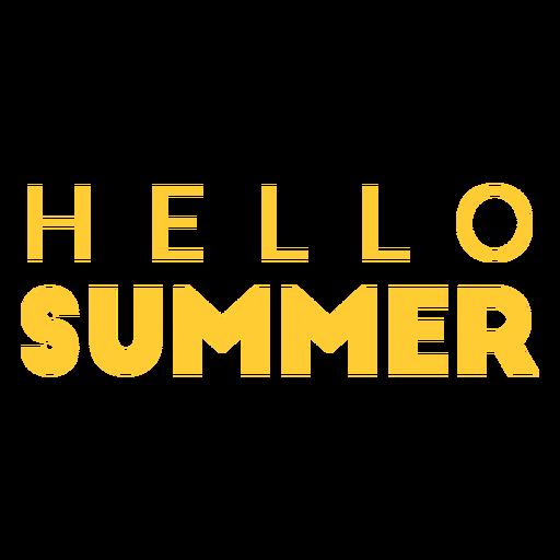 Hello summer flat text badge