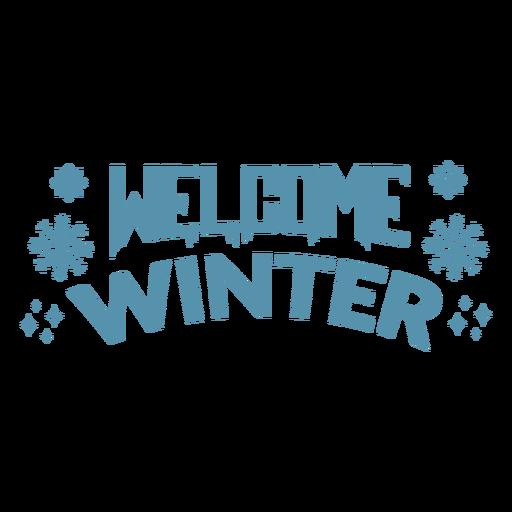 Welcome winter badge