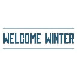 Welcome winter text badge
