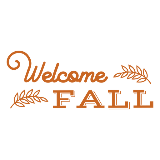 Welcome fall lettering badge