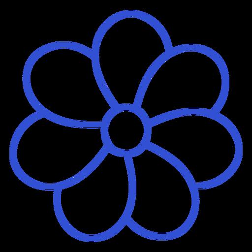 Simple stroke seven petals flower