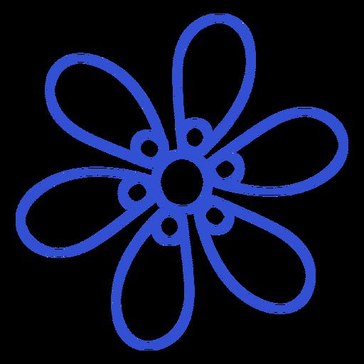 Six petals simple stroke flower