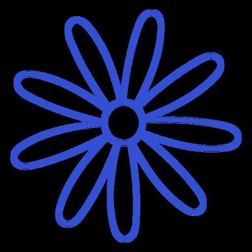 Thin petals stroke flower