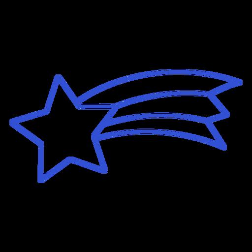 Simple stroke shooting star