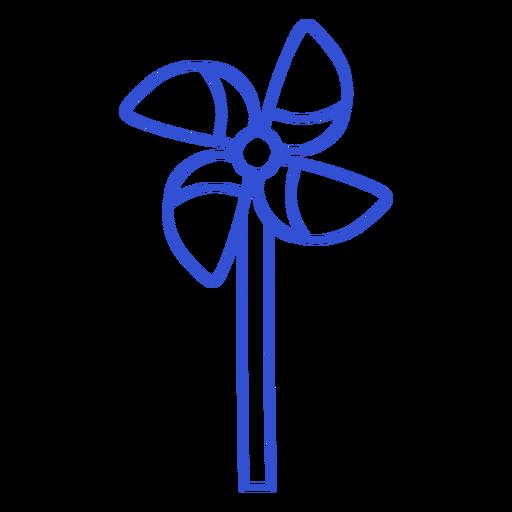 Windmill toy line art