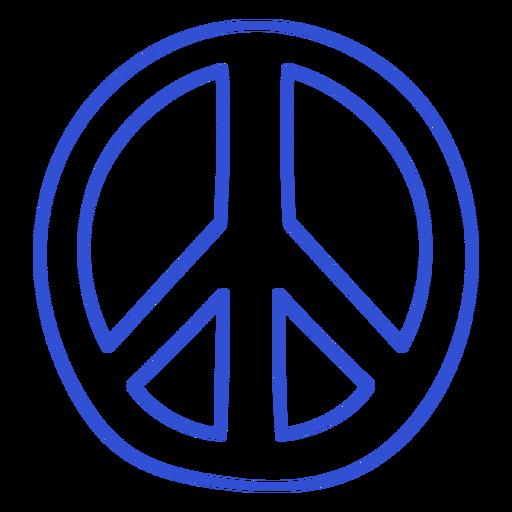 Stroke peace and love symbol