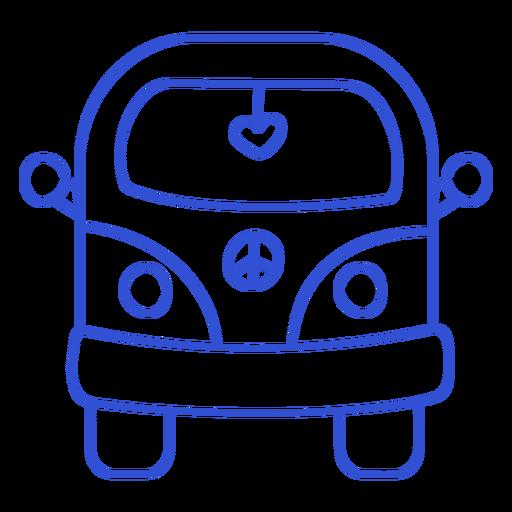Simple stroke old hippie van