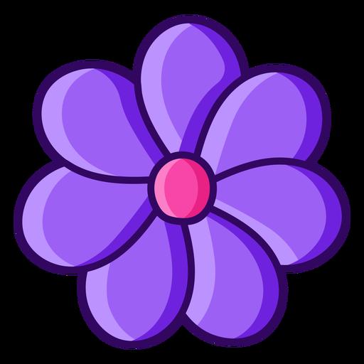 Color stroke seven petals flower
