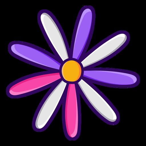 Thin petals color stroke flower
